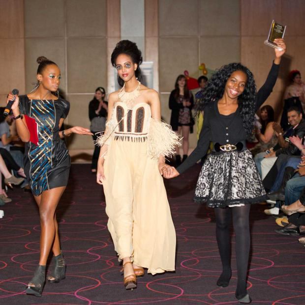 Young fashion designer Ezoe Robinson scooped top prize in a competition