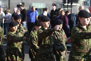 MEMBERS of an ex-servicemen's club honoured war veterans at a memorial service in North Finchley. 