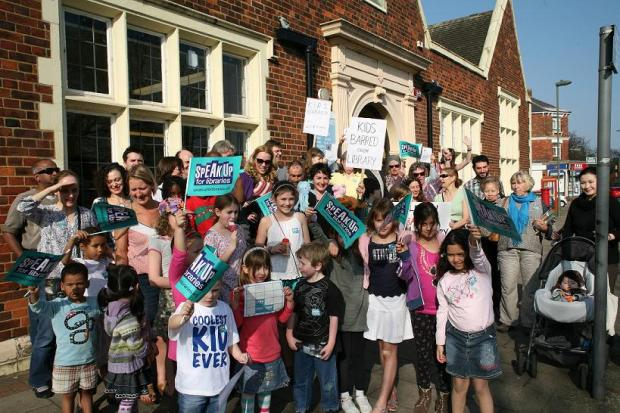 Times Series: Protests over impending library closure