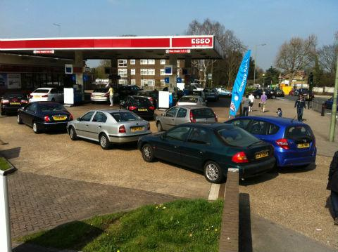 Motorists are enduring another miserable day at the pumps in Barnet as drivers flock to petrol stations amid fears of a tanker driver strike