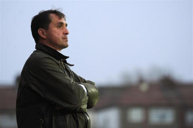 Martin Allen will run the rule over his entire squad against Peterborough on Saturday. Picture: Action Images