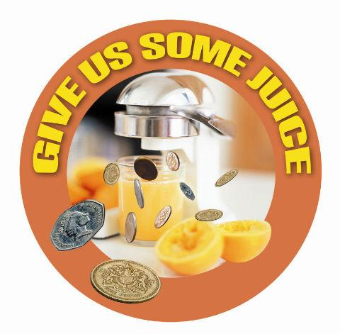 Cafe to donate to Give us Some Juice campaign
