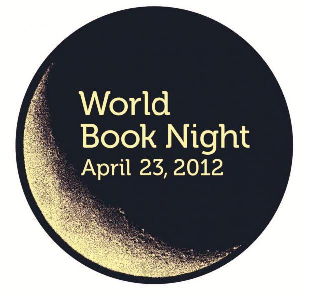 Times Series: Waterstones Barnet celebrates World Book Night by torchlight