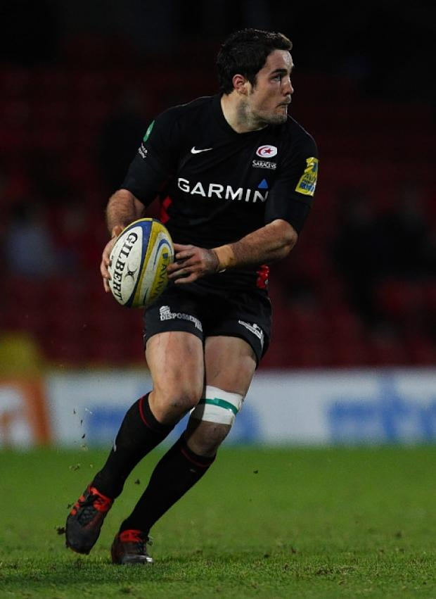 Brad Barritt returns to action for Sarries in their home game against Exeter Chiefs: Action Images