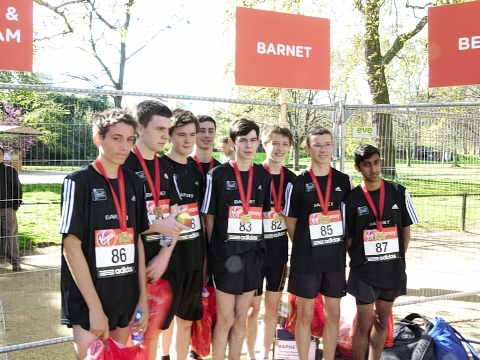 The Under-17 team came away with a bronze medal at the London mini marathon