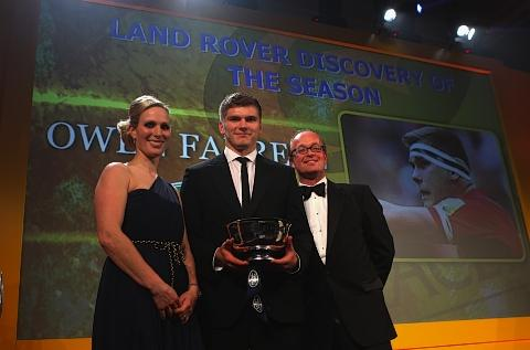 Owen Farrell won the Land Rover Discovery of the season
