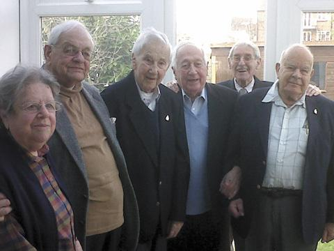 A get-together of some of the veterans