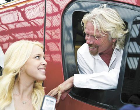 Zoe Jackson with Sir Richard Branson
