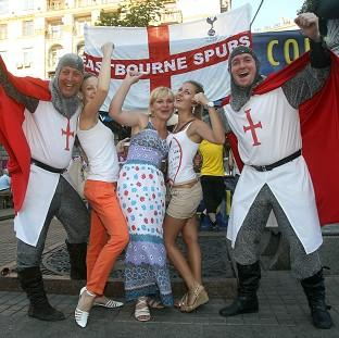 Times Series: England fans are racing to reach Kiev in time for Sunday's Euro 2012 quarter-final against Italy