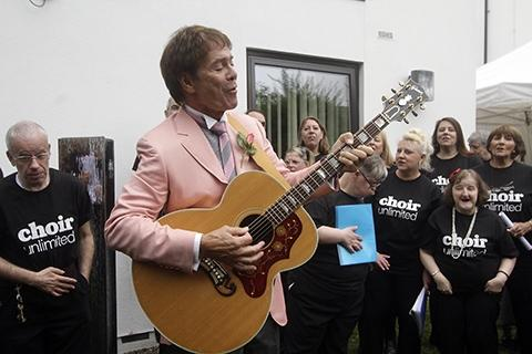 Sir Cliff Richard performed a selection of his hits at the charity opening