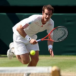 Andy Murray in action against Switzerland's Roger Federer