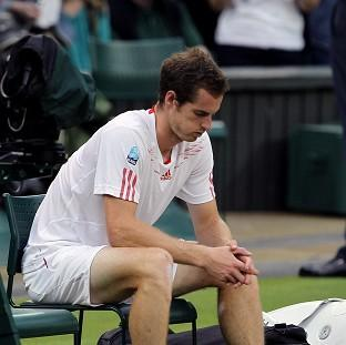 Andy Murray after losing to Switzerland's Roger Federer in the men's singles final at Wimbledon