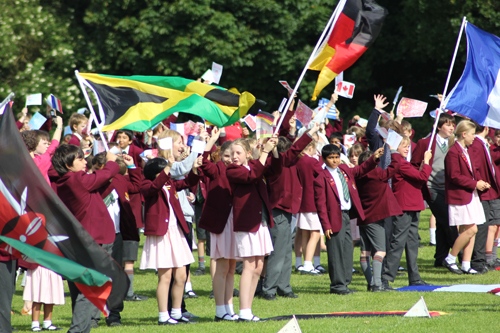 Flags, flames and fun as Beechwood Park's Olympic celebrations earn gol