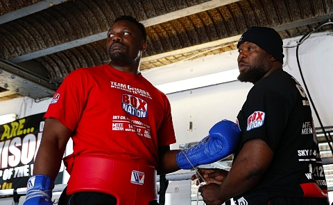 Dereck Chisora and his trainer Don Charles are confident ahead of Saturday's fight: Action Images