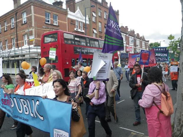 Hundreds march against One Barnet