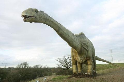 Times Series: The 100-foot Diplodocus at the Dinosaur Safari Adventure Golf Course, in Rowley Lane, looked set for demolition