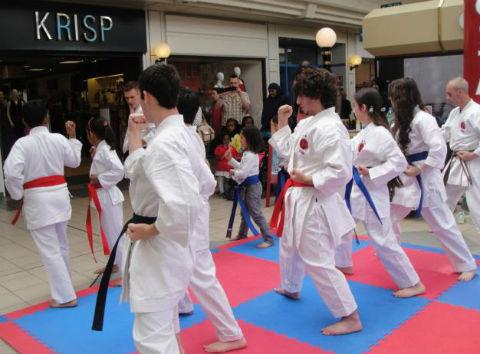 Karate demonstration in Edgware