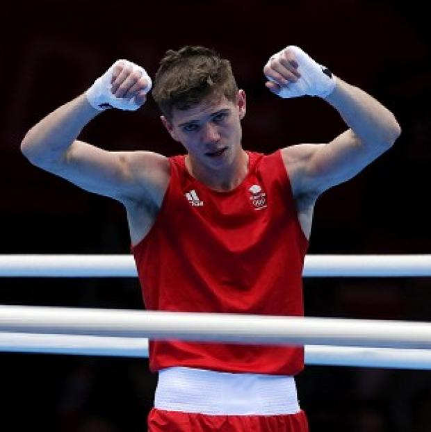 Luke Campbell celebrates his semi-final victory