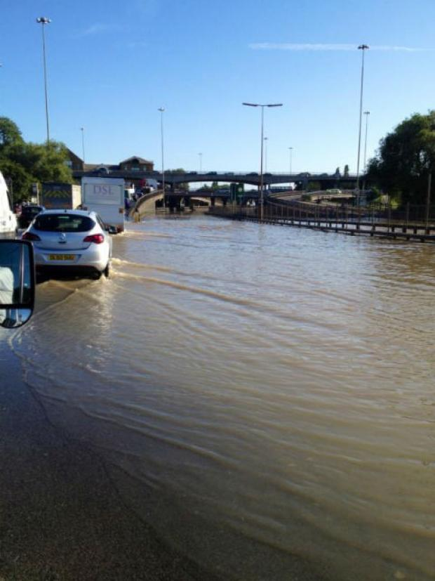 Jonathan Clark tweeted this picture of the flooding