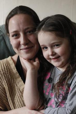Charlotte Byrne with her daughter Emily Byrne.