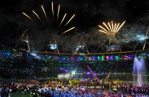 Times Series: The games closed with a spectacular ceremony