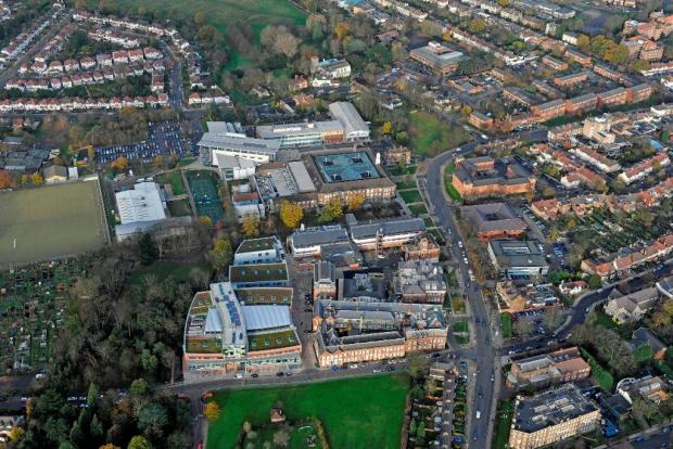 A birds eye view of the campus