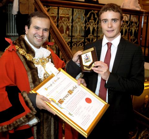 Times Series: Steven Burke becomes a freeman of Pendle