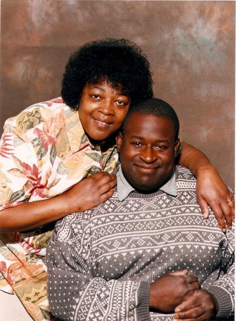 Horace White with his sister Selina Higgins who said she was 'overwhelmed' by the support shown to her family since his death