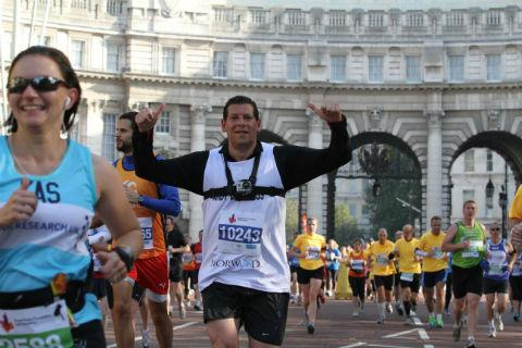 Times Series: Andrew Samuels finishes the Royal Parks Foundation Half Marathon in aid of Norwood