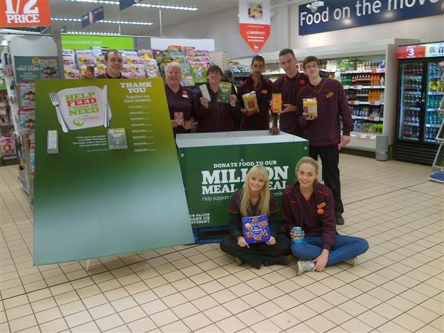 Shoppers at the Potters Bar store donated enough food for 1,000 meals
