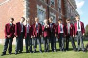 Beechwood Park's winning team of mathematicians; from left to right: Thomas Meacock. Dimitri Chamay, Oliver West, Brendan Warren, Thomas Hillman, Louis Taylor, Krishnan Mulholland, Hugo Buckland and Alasdair Taylor