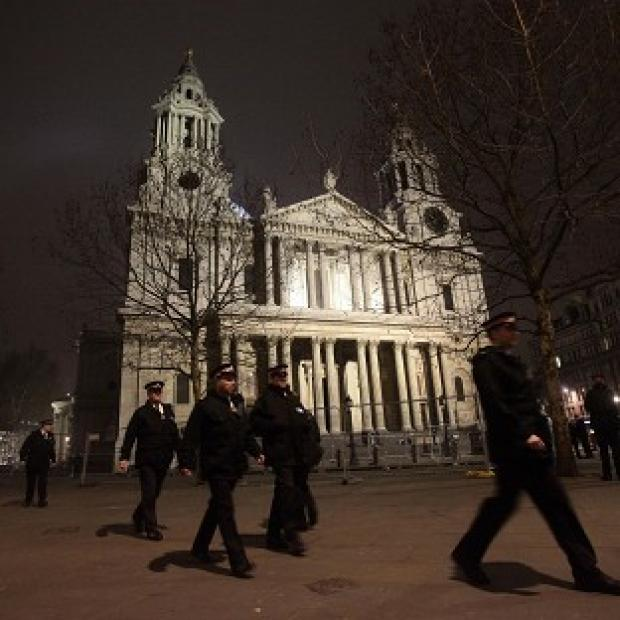St Paul's Cathedral in the City of London after the eviction of Occupy protesters and removal of their tents