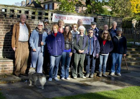 Cllr John Marshall (third from end in back row) with fellow walkers