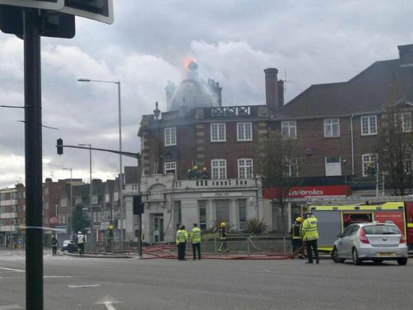 Twenty firefighters were required to tackle the blaze