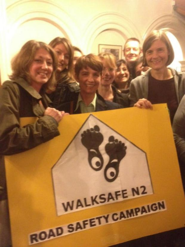 Walksafe N2 campaigners celebrate their success