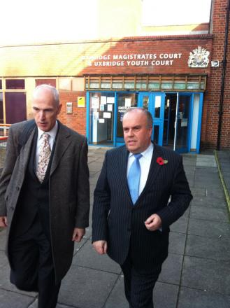 Brian Coleman leaving court earlier this month following a hearing into assault allegations