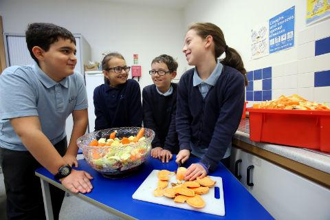 Pupils at Akiva School tried out their culinary skills as part of the Jewish good deeds day