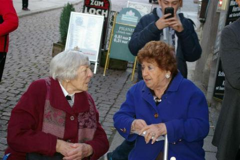 Times Series: Great-grandmother visits Germany to see plaques to her parents unveiled