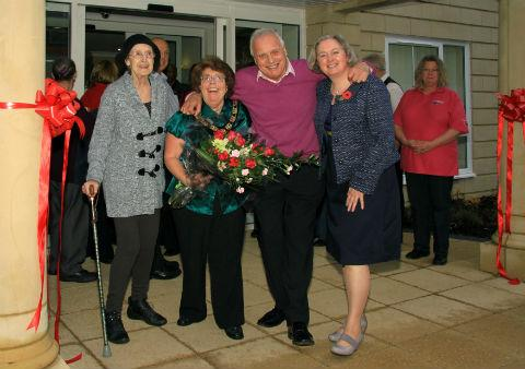 Former EastEnders star Peter Dean joined the Mayor of Hertsmere at the re-opening of a renovated care home in Potters Bar