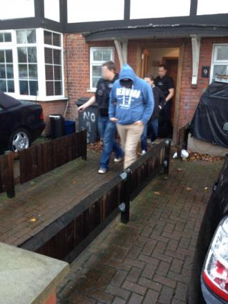 The UK Border Agency made the arrests during a series of early morning raids
