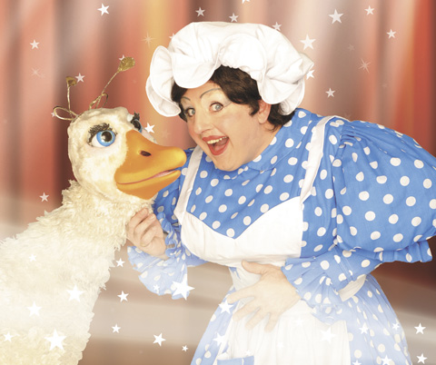 Terence Frisch as Mother Goose