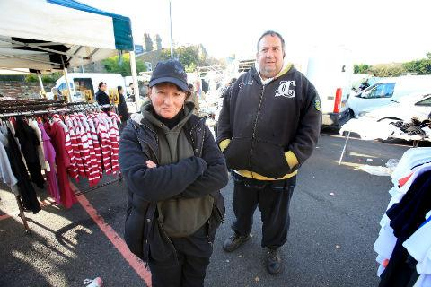 Janine Viner and Andrew Aarns are worried the market will close if the parking policy is not altered