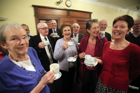 Volunteers who help out members of the bowls club were thanked at a tea party at Mill Hill Golf Club