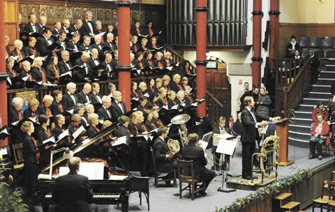 Times Series: Harrow Choral Society's Christmas celebration concert takes place in Harrow School's Speech Room