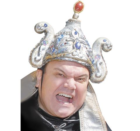 Times Series: Shaun Williamson stars as the evil Abanazar in Aladdin at The Alban Arena this Christmas