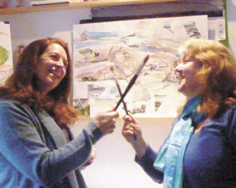 The artistic rivalry of Fiona Pruden (left) and Denise Allen