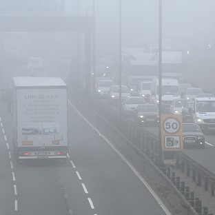 Motorists are being warned to be on their guard for widespread freezing fog
