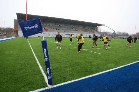 Players took to the new pitch for their first training session yesterday