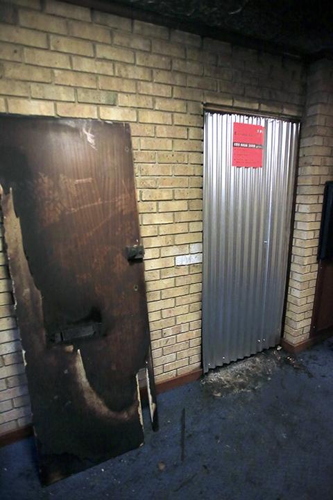 An investigation is under way into the cause of the fire, which left the flat partly damaged