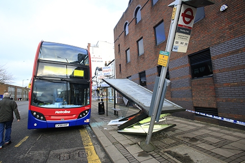 Bus driver flattens shelter after 'misjudgement'
